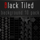 Black Tiled Background-10 Loops - VideoHive Item for Sale