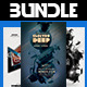 Electro Party Flyer Bundle Vol.1 - GraphicRiver Item for Sale