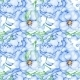 Watercolor Blue Flower Pattern - GraphicRiver Item for Sale