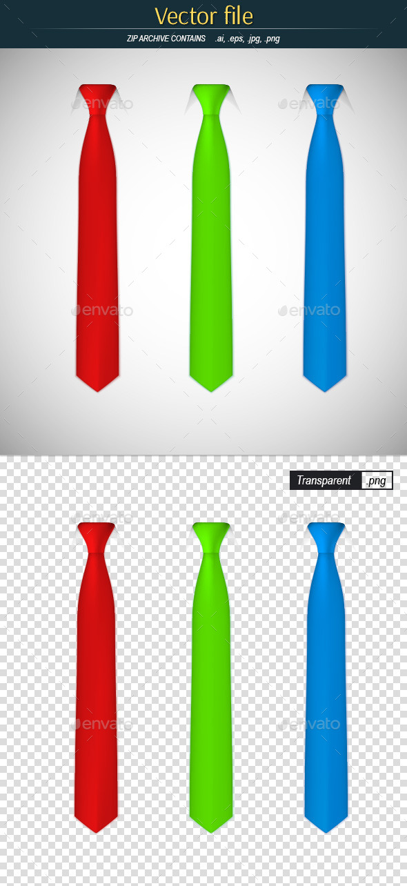GraphicRiver Silk Colored Ties 10537397