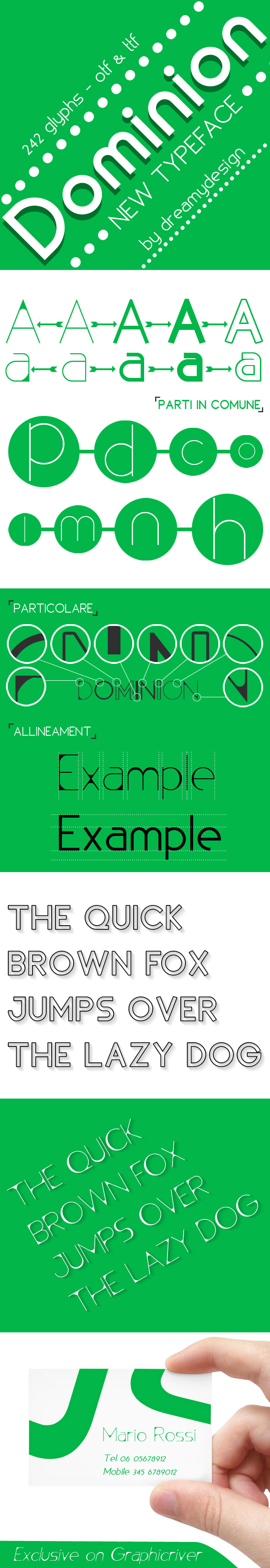 GraphicRiver Dominion typeface 10537412