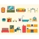 Furniture House Interior Icons  - GraphicRiver Item for Sale