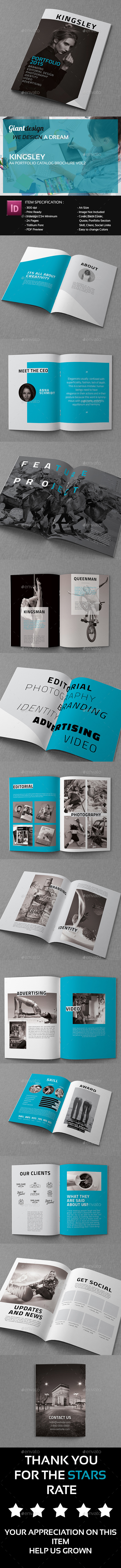 GraphicRiver Kingsley A4 Portfolio Catalog Brochure Vol 2 10436021