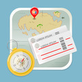 travel map tickets compass icon vector illustration - PhotoDune Item for Sale