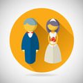 Wedding Symbol Bride and Groom Marriage Icon Trendy Modern Flat Design Template Vector Illustration - PhotoDune Item for Sale