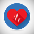 Healthcare and Medical Care Symbol Heart Beat Rate Icon Design Template Vector Illustration - PhotoDune Item for Sale