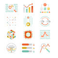 Data analytic silhouette icons - PhotoDune Item for Sale