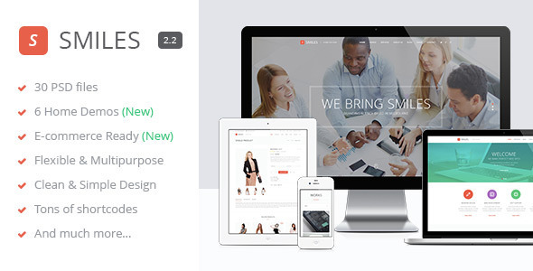 Smiles - Responsive Multi-purpose PSD Template - Corporate PSD Templates