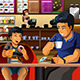 Father and Son Eating Breakfast - GraphicRiver Item for Sale