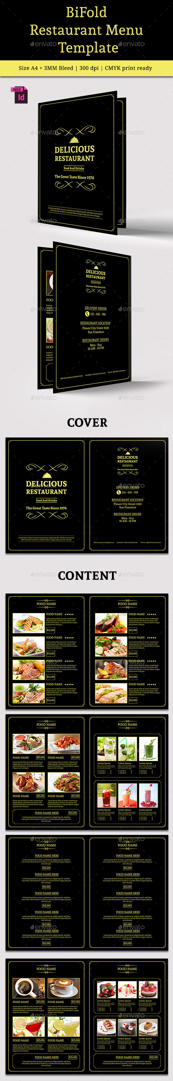 GraphicRiver BiFold Restaurant Menu Vol 5 10538410