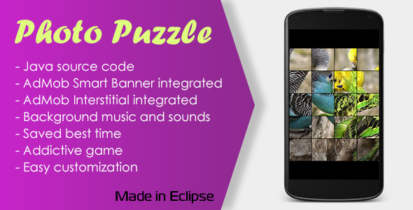 CodeCanyon Photo Puzzle Game with AdMob 10538753