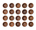 Set of dark brown wooden buttons - PhotoDune Item for Sale