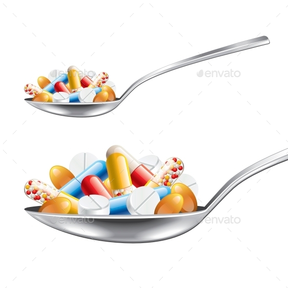 GraphicRiver Spoon with Medicines 10539851