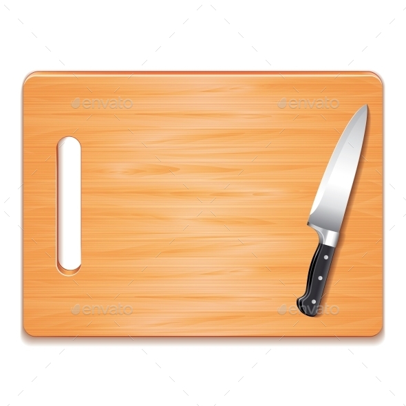 GraphicRiver Cutting Board and Knife 10539857