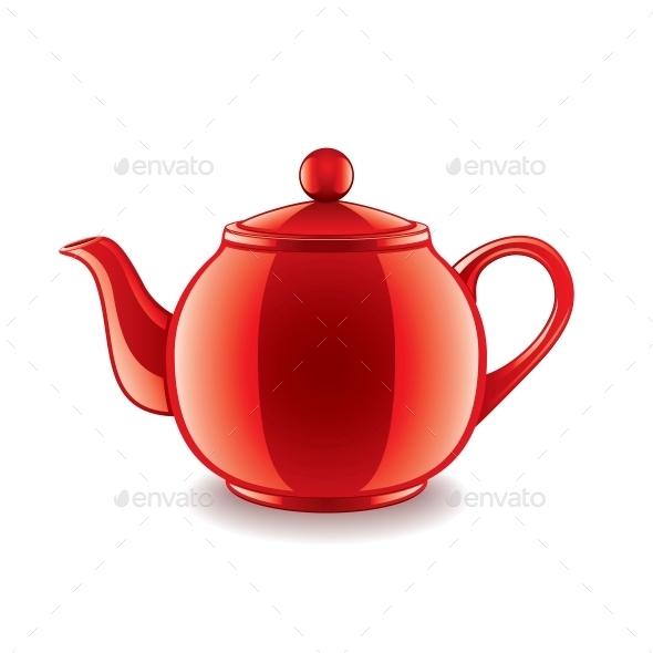 GraphicRiver Ceramic Teapot 10539860