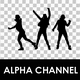 Silhouettes Of Dancing Girls - VideoHive Item for Sale