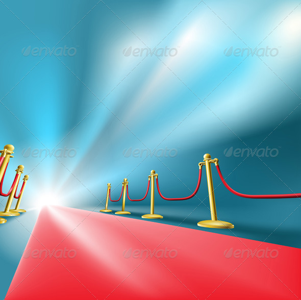 GraphicRiver Red Carpet Fame Concept Background 132303