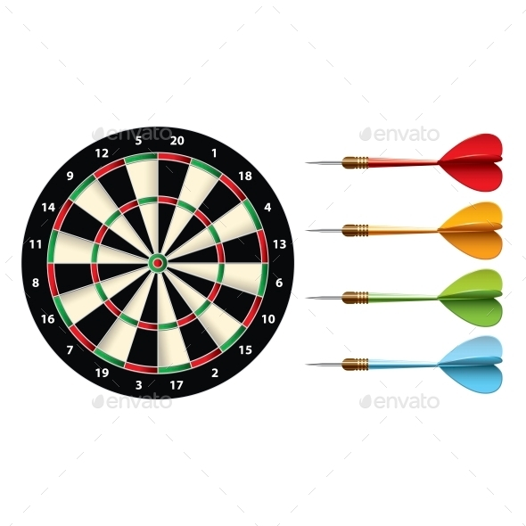 GraphicRiver Darts Set 10540150
