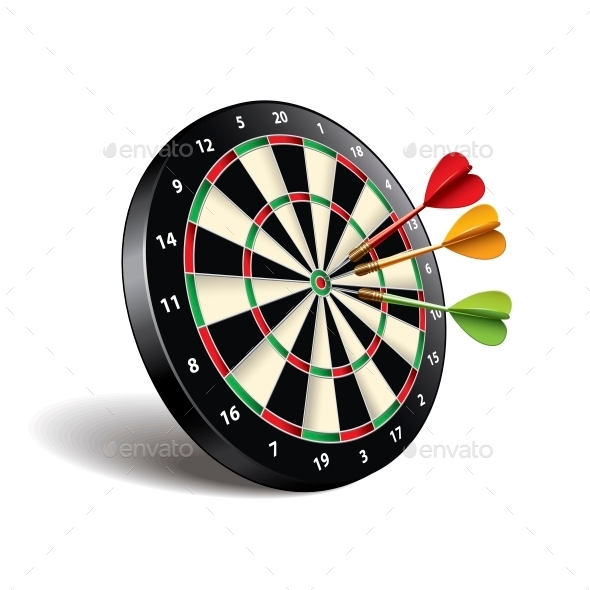 GraphicRiver Darts Target 10540151