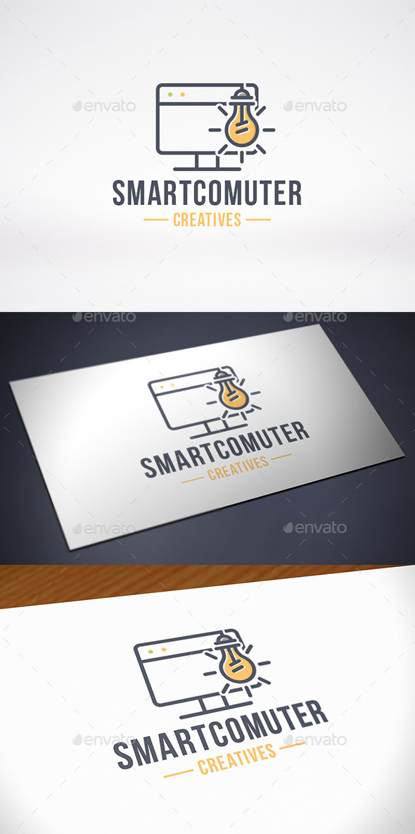 GraphicRiver Computer Idea Logo Template 10540283