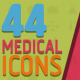 44 Animated Medical Icons - VideoHive Item for Sale