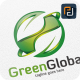 Green Global / Leaf - Logo Template - GraphicRiver Item for Sale