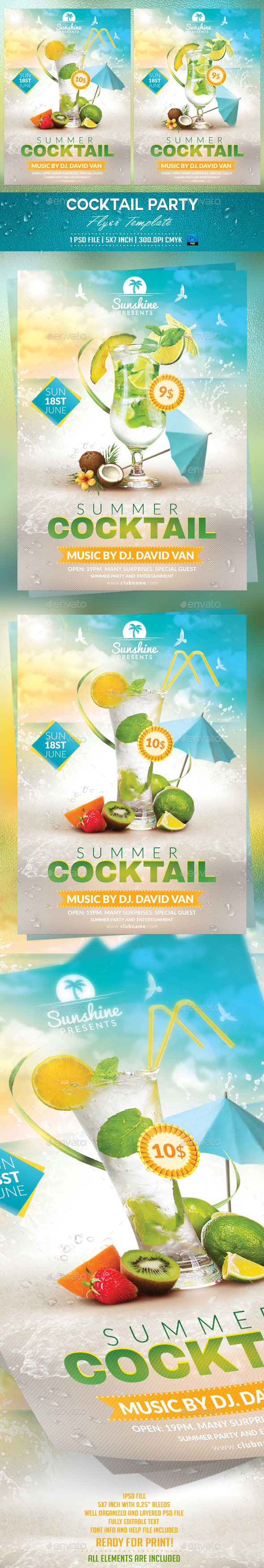 GraphicRiver Cocktail Party Flyer Template 10540507