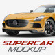 Supercar Mercedes SLS AMG Mock-Up - GraphicRiver Item for Sale