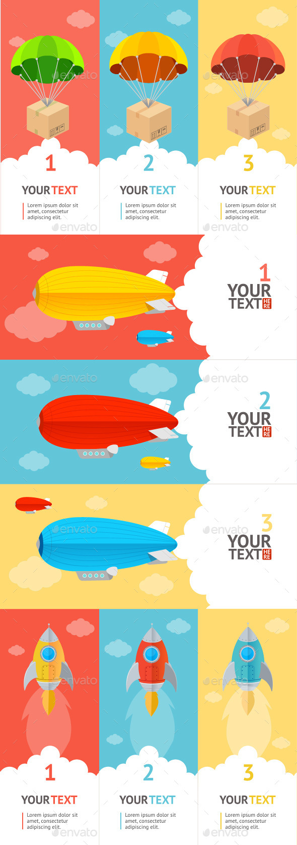 GraphicRiver Parachute Option Banner 10540514