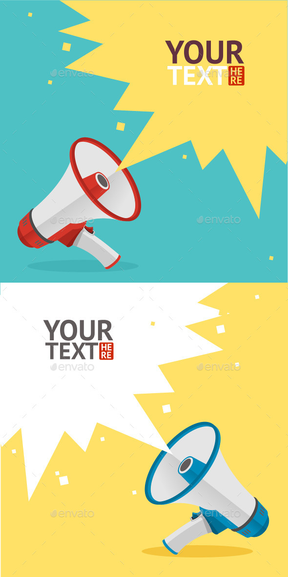 GraphicRiver Megaphone Card 10540546