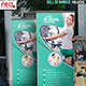 Fitness Center Promotion Roll-up Banner - GraphicRiver Item for Sale