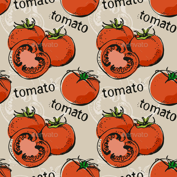 GraphicRiver Tomatoes Pattern 10509629