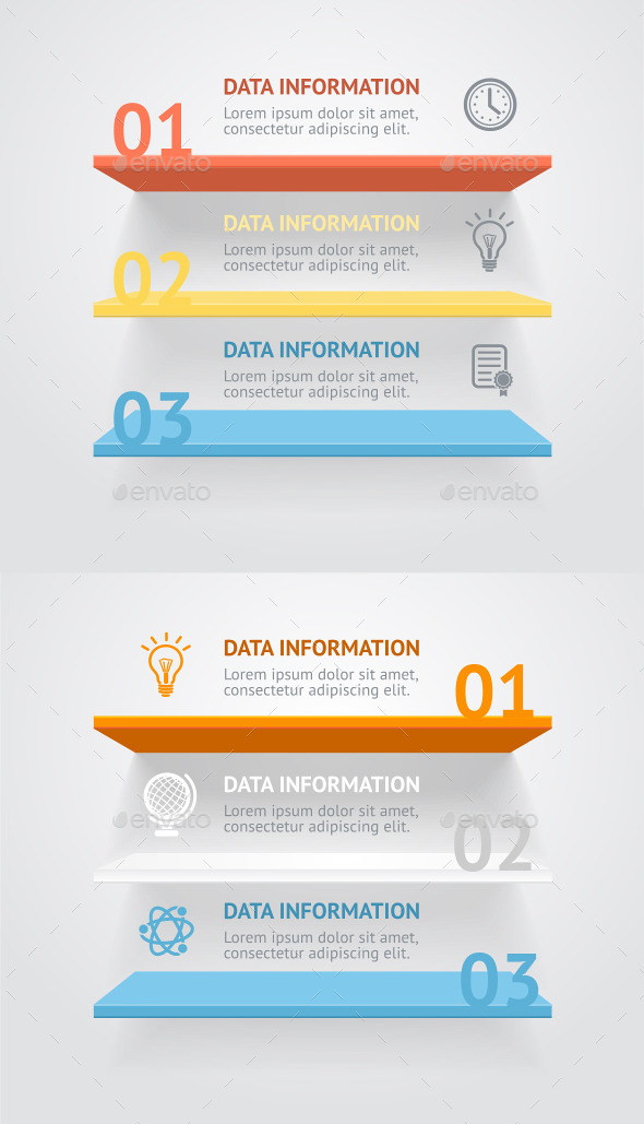 GraphicRiver Vector Infografic Shelves 10540629