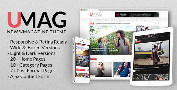 ThemeForest UMag News Magazine & Blog Template 10540712