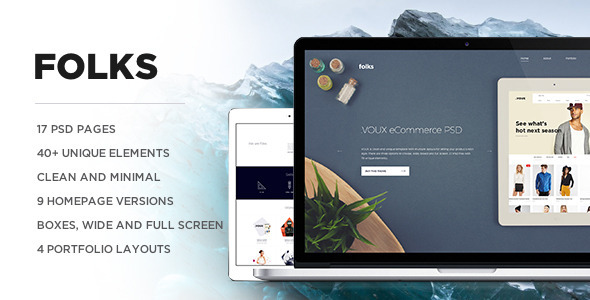 ThemeForest Folks PSD 10540716