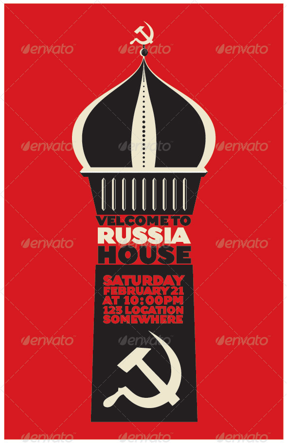Russian Themed Poster - Conceptual Vectors