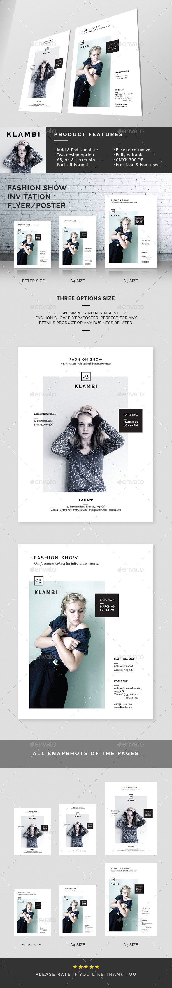 GraphicRiver Fashion Show Invitation Flyer Poster 10540871