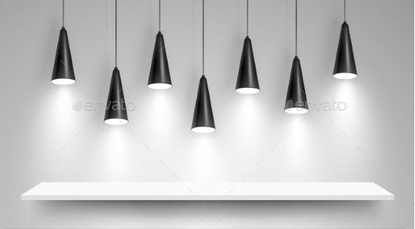 GraphicRiver Black Ceiling Lamps 10540964
