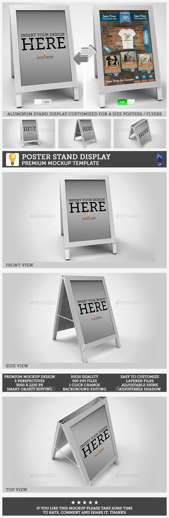 GraphicRiver Poster Stand Display Mockup 10486402