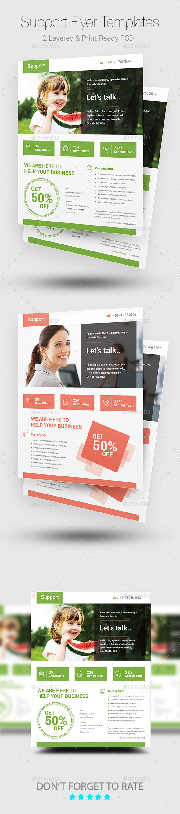 GraphicRiver Support Flyers 10541690