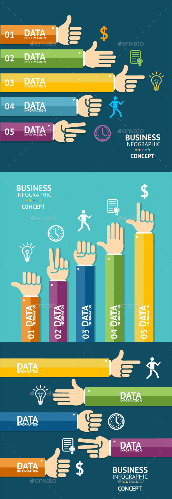 GraphicRiver Vector Business Infographics 10541874