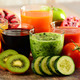 Glasses of fresh organic vegetable and fruit juices - PhotoDune Item for Sale