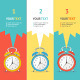 Vector Wakeup Clock Option Banner - GraphicRiver Item for Sale
