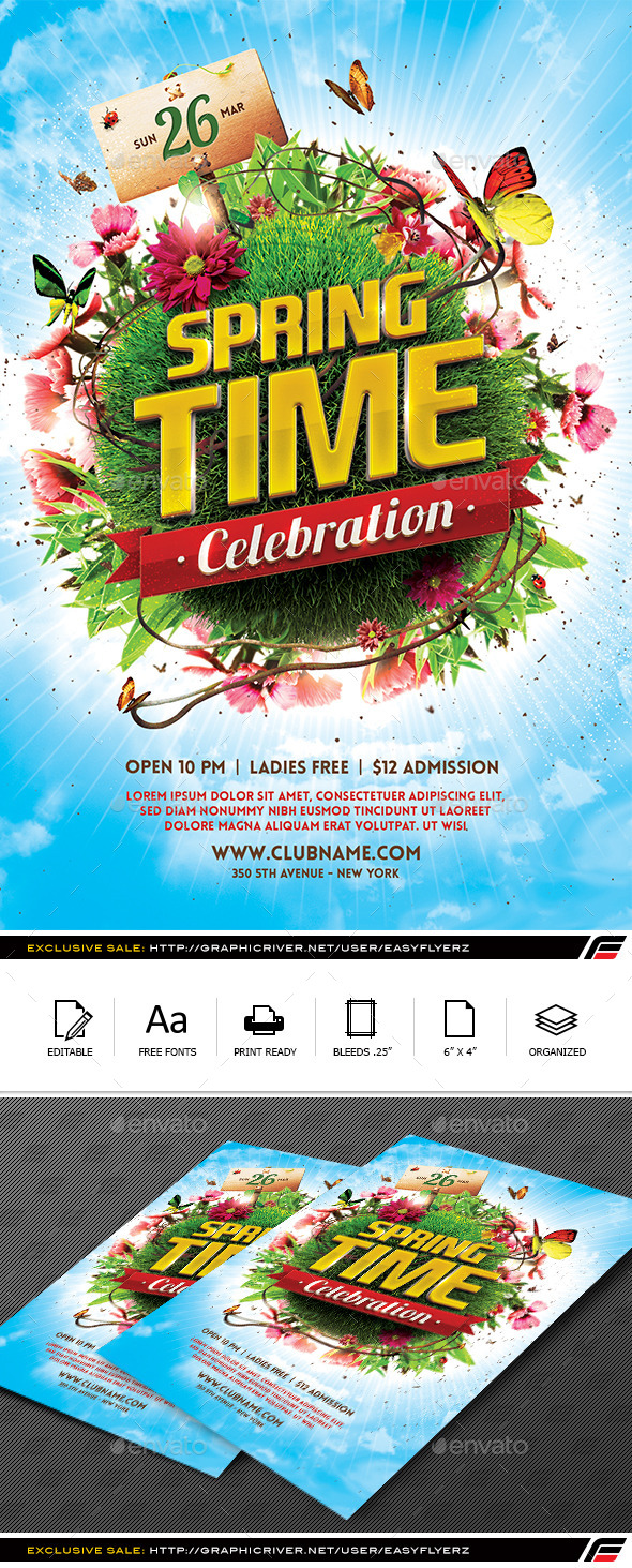 GraphicRiver Spring Celebration Flyer Template 10542134