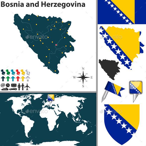 GraphicRiver Map of Bosnia and Herzegovina 10542242