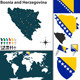 Map of Bosnia and Herzegovina - GraphicRiver Item for Sale