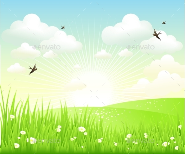 GraphicRiver Clean Spring Scenery 10542308