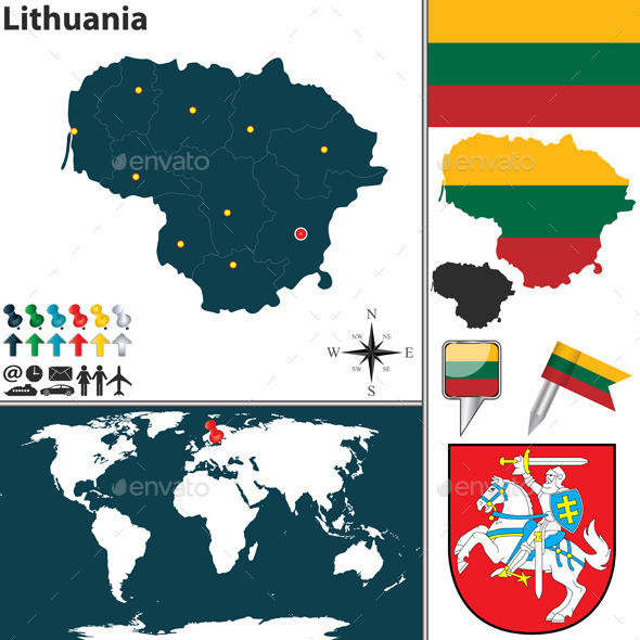 GraphicRiver Map of Lithuania 10542324