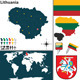Map of Lithuania - GraphicRiver Item for Sale