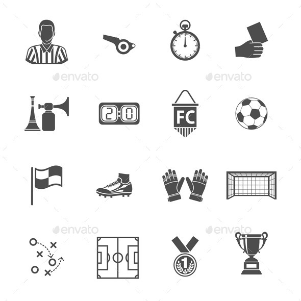GraphicRiver Soccer Icon Set 10542522